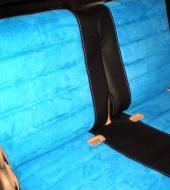 Алькантара люкс синяя + Экокожа премиум черная