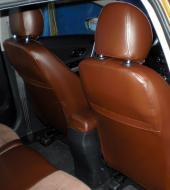 Алькантара люкс коричневая + Экокожа люкс коричневая