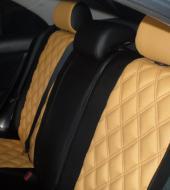 Экокожа люкс желтая + Экокожа люкс черная