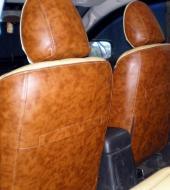 Экокожа люкс бежевая + Экокожа люкс коричневая