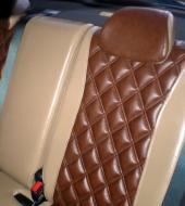 Экокожа люкс коричневая + Экокожа люкс бежевая